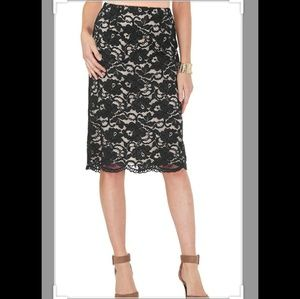 Lace pencil skirt by Cato